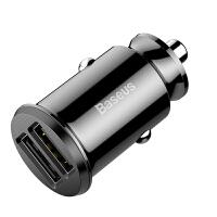汽车用车载手机充电器车充双USB迷你隐形一拖二多口快充短头点烟器接口转换一分二通用型