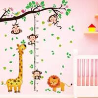 儿童房宝宝量身高贴纸卧室装饰品客厅墙贴测量卡通身高贴早教贴画
