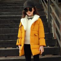 童装女童冬装棉衣外套儿童中大童韩版洋气中长款6-7-13岁