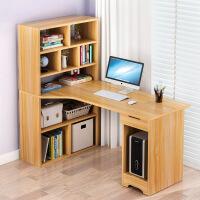 简易电脑桌宜家家居台式桌家用转角书桌书柜一体组合旗舰