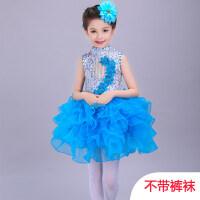 六一儿童演出服装女童舞蹈服幼儿现代舞公主裙蓬蓬纱裙表演服