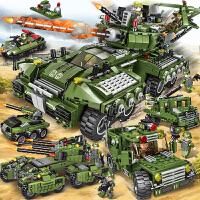 乐高积木益智力军事战争坦克飞机拼装儿童玩具装甲汽车6-10岁模型