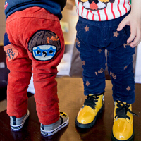 *男童装加绒加厚灯芯绒长裤子2018冬装新款加棉休闲裤