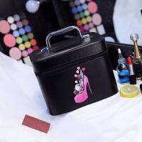 化妆包大容量多功能可爱便携旅行大号护肤品手提化妆箱多层化妆盒shq
