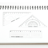 三角尺量角器15cm直尺学生文具套装透明尺子三角板LB0323 套尺