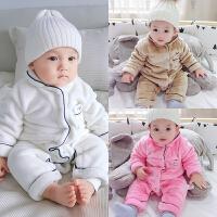 20180508011412374婴儿连体衣服加厚新生儿宝宝外出冬季6新年冬装3外套装棉衣0个月1