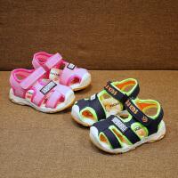 夏季机能鞋男女童凉鞋宝宝包头鞋学步凉鞋1-3岁3-5岁