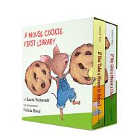 英文原版绘本 If You Give a Mouse Cookie 要是你给老鼠吃饼干2册纸板书 If You Tak
