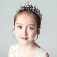 儿童演出皇冠头饰女童礼服发箍发夹花童婚纱头箍配饰公主王冠发饰