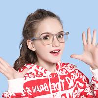 男童女童防辐射眼镜学生防蓝光护目镜无度数平光镜儿童青少年眼镜
