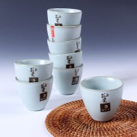 尚帝 高档汝窑杯 开片蝉翼茶杯8个装普盒装 陶瓷茶杯 特价汝窑2014WHRYB4