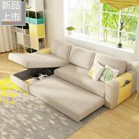 多功能沙发床可折叠简约现代客厅小户型布艺沙发转角两用可变床定制 2米以上
