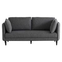 北欧沙发小户型现代简约布艺双人三人灰色卧室出租房公寓简易沙发 深灰色 K95-7 (海绵+乳胶)