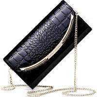 真皮钱包女长款2018新款时尚百搭气质韩版个性潮包大容量手拿包 黑色 Q83中号长21cm