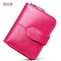 新款女士零钱包短款韩版真皮可爱学生皮夹大容量牛皮两折钱夹女潮