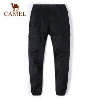 【满259减200元】camel骆驼户外休闲裤男 小脚裤吸湿透气户外男工装休闲裤