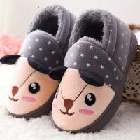 冬季儿童棉拖鞋男童包跟厚底居家卡通可爱宝宝室内女童保暖棉鞋