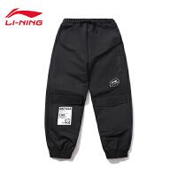李宁X有熊猫联名系列运动裤女士2020新款宽松休闲收口运动长裤AYKP266