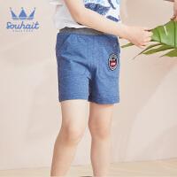 【3件3折:26元】水孩儿童装儿童三分针织短裤男童短裤运动短裤