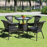 户外家具藤椅五件套藤编椅子三件套休闲庭院阳台桌椅休闲咖啡桌椅