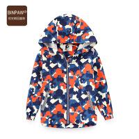 【3件1.5折到手价:57元】BINPAW男童风衣 2020秋装新款韩版帅气碎花满印男童风衣