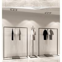 铁艺简易服装架男女服装店展示架挂衣架子正挂落地式侧挂衣服货架 官方标配