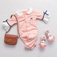 婴儿连体衣服冬季0岁2个月新生儿冬装宝宝可爱童童睡衣新年