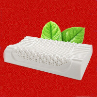 天然乳胶枕颈椎枕按摩枕乳胶枕头枕头芯护颈枕头枕芯-60*40*10cm波浪款含枕套