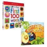 幼儿经典图书2本套装 Sylvia Long's Mother Goose 西尔维娅绘本:鹅妈妈童谣 Scholast