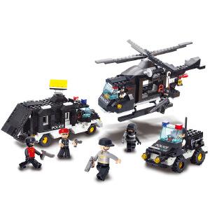 【当当自营】小鲁班防暴特警系列儿童益智拼装积木玩具 机动队M38-B2100