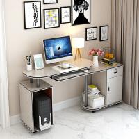 转角电脑桌简约台式家用桌可移动书桌办公桌角落桌多功能书桌 木质面-乳白色