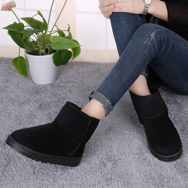 西瑞时尚加绒短靴女秋冬款套筒雪地靴棉靴厚底女靴子BL5505