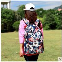 女士双肩包韩版校园森系大学生背包高中学生大容量印花软妹书包潮