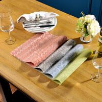 奇居良品 环保可水洗西餐桌防滑餐垫隔热垫子 波浪纹PVC餐垫