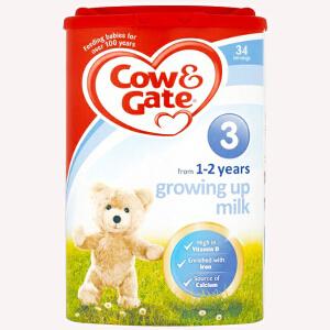 【当当海外购】Cow&Gate英国牛栏 婴幼儿配方奶粉3段(1-2周岁宝宝 900g)【仅外观轻微破损 不影响食用 不支持退换 介意慎拍】