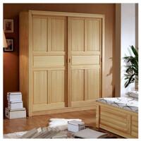 实木衣柜 松质移门可定制 推拉门衣橱 环保原木柜子 2门 组装