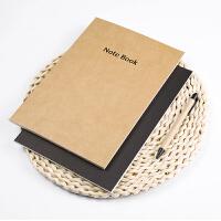 广博4本装特种牛皮纸记事本子日记本软抄本 25K40张点格GB25402