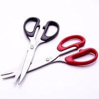 办公文具用品得力剪刀家用 办公不锈钢剪子剪刀套装 小号手工安全