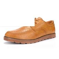 男鞋新款秋季布洛克雕花男鞋夏季休闲鞋子男士皮鞋男英伦潮鞋