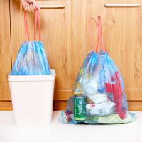 普润 3卷装自动收口垃圾袋加厚手提式家用抽绳穿绳厨房塑料袋家用自动收口抽穿绳厨房塑料袋 颜色随机
