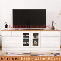 实木电视柜现代简约客厅小户型卧室经济型地柜高款储物柜整装 整装
