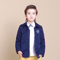 TAGA 春秋季新款童装男童大衣儿童风衣中大童上衣