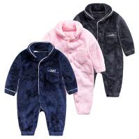 女婴儿连体衣服秋冬季0岁3个月男宝宝1冬装新生儿衣服加绒外出服