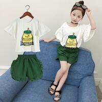 女童夏装时尚运动套装儿童洋气夏季童装时髦两件套潮