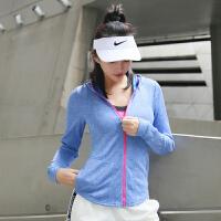 健身上衣女连帽立领运动外套修身显瘦跑步长袖速干夹克瑜伽服
