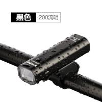 山地自行车灯单车USB充电前灯防雨夜骑行装备配件强光手电筒