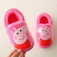 女童男童包跟宝宝棉鞋冬季可爱居家室内卡通儿童棉拖鞋女