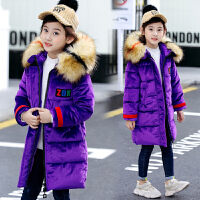 女童棉衣中长款韩版中大童冬季女孩洋气外套冬装