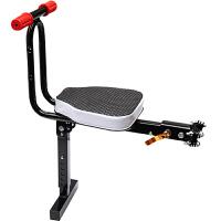 电动自行车儿童前置折叠座椅踏板摩托电瓶车小孩安座椅宝宝坐椅新品 支撑折叠款】扶手黑色 折叠款