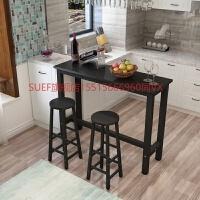 简约现代靠墙吧台桌家用客厅小吧台桌长条桌窄桌高脚桌咖啡奶茶桌 组装